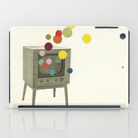 tv iPad Cases featuring Colour Television by Cassia Beck