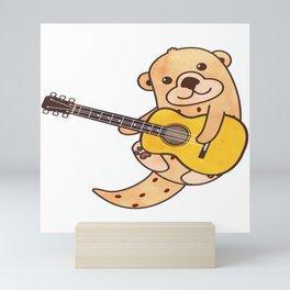 Sweet Otter Guitar Kids Music Gift Mini Art Print