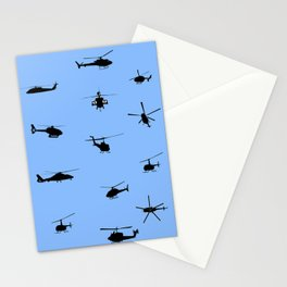 Helicopter Pattern Stationery Cards