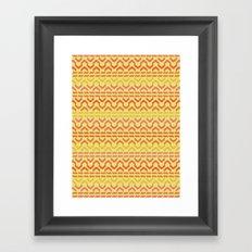 AZTEC pattern 1-1 Framed Art Print