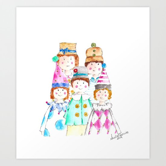 Circus Friends Art Print
