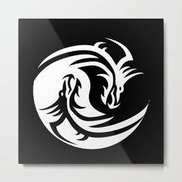Dragon Yin Yang Metal Print
