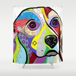 Beagle Close-up Shower Curtain