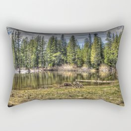 Reflecting Pond at Carson Spur, Amador County CA Rectangular Pillow