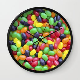 Jelly Bean Candy Photo Pattern Wall Clock