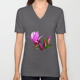 Rosy spring Magnolia Unisex V-Neck