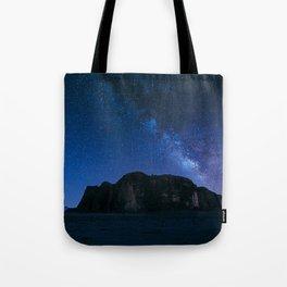 Milky Way Over Wadi Rum Tote Bag