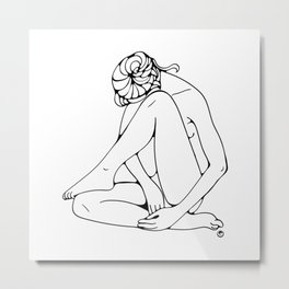 Sitting woman figure Metal Print