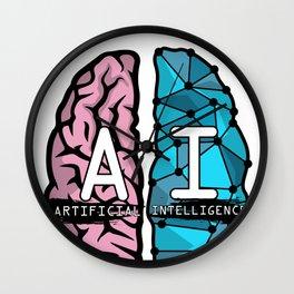 AI Nerd design - Artificial Intelligence Brain graphic Wall Clock