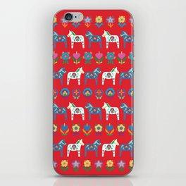 Dala Folk Red iPhone Skin