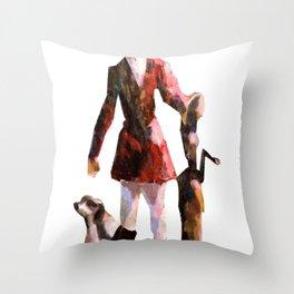 The Fox Method Throw Pillow