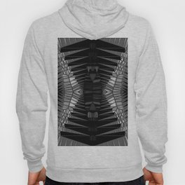 B & W Stained Glass - Hour Glass Accordian Hoody