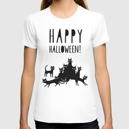HAPPY HALLOWEEN poster T-shirt