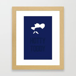 Colonel Silhouette (navy blue) Framed Art Print