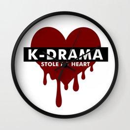 Kdrama stole my heart Wall Clock