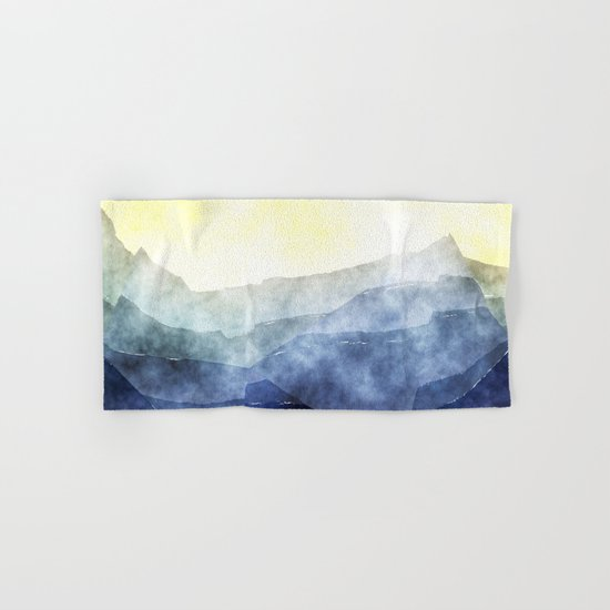 Sun behind the mountains - Modern abstract triangle pattern Hand & Bath Towel