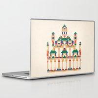 physics Laptop & iPad Skins featuring Block Façade by C86 | Matt Lyon