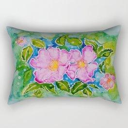 Alberta Wild Rose Rectangular Pillow