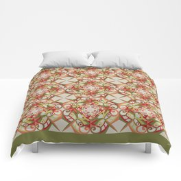 Thanksgiving Tiled - Fall Colors Comforters