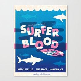 Surfer Blood Poster Canvas Print