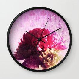 Sunrise Flowers Wall Clock