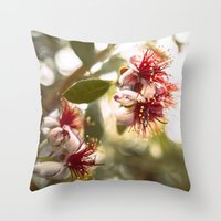 botanical Throw Pillows featuring Botanical  by dibec