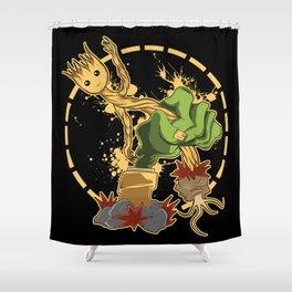 Zombi vs Plantas  Shower Curtain