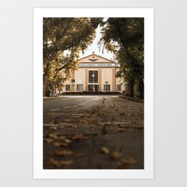 Fall in the city of Subotica, Serbia / Autumn Art Print