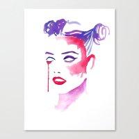 creepy Canvas Prints featuring Creepy by Binkfloyd