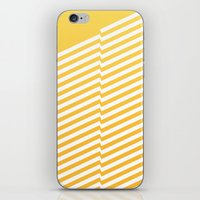 bands iPhone & iPod Skins featuring Yellow Bands R. by blacknote