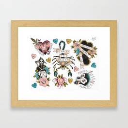 Feminist Valentine Framed Art Print