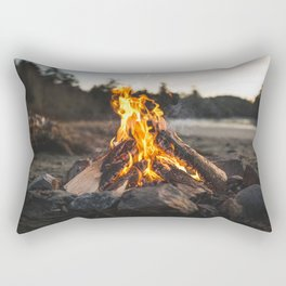 Campfires along the Coast Rectangular Pillow