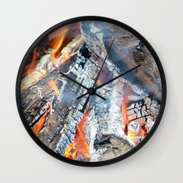 fire, ember and ash Wall Clock