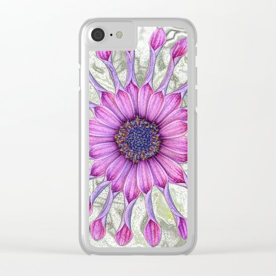 Daisy (flowers collection) Clear iPhone Case