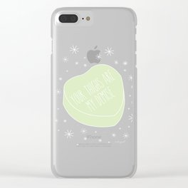 YOUR THIGHS Clear iPhone Case