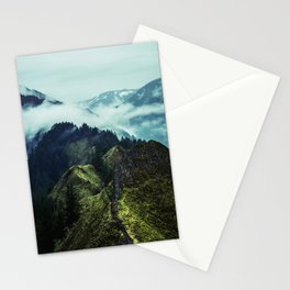 Forest Mountains Blue Sky Stationery Cards