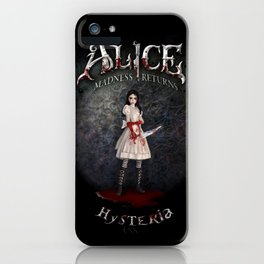 Alice Madness Returns Hysteria Game Design iPhone Case