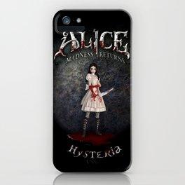 Alice Madness Returns Hysteria Game Design iPhone Case