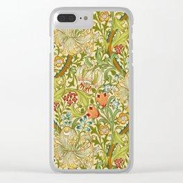 William Morris Golden Lily Vintage Pre-Raphaelite Floral Art Clear iPhone Case