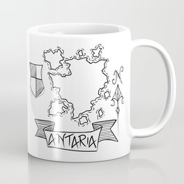 Antaria - Fantasy Map with Wind Rose and Crest Coffee Mug
