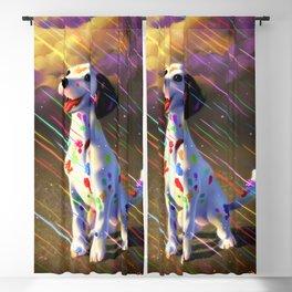 Rainbow dalmation Blackout Curtain