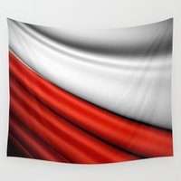 poland Wall Tapestries featuring flag of Poland by Lulla