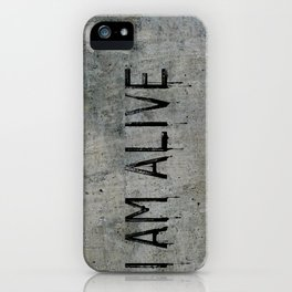 I AM ALIVE - Black - Detroit: Become Human Deviant Writing iPhone Case