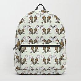 Barn Owl Bird Watercolor Painting Artwork Backpack