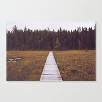 hiking Canvas Prints featuring Fall Hiking by Simon Laroche