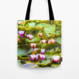 Water Lilys Art Tote Bag