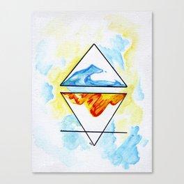 Collide Canvas Print