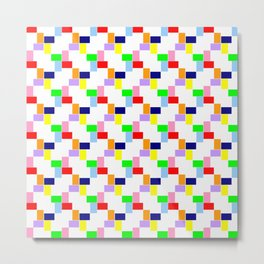 Square and abstraction 1 -rainbow Metal Print