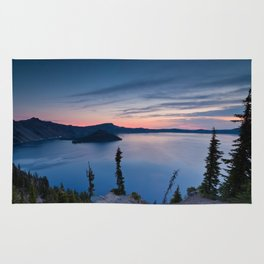Sunrise At Crater Lake Rug
