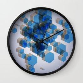 3D Hexagon Background Wall Clock